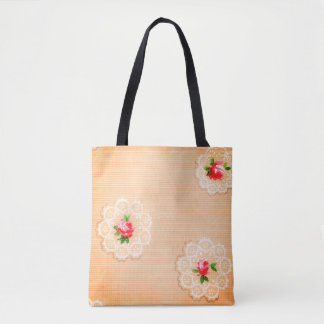 Peachy Posies Tote Bag