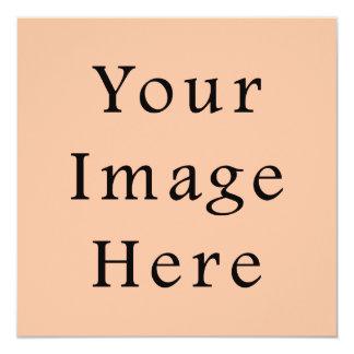 Peachy Skin Tone Beige Pink Color Trend Template 13 Cm X 13 Cm Square Invitation Card