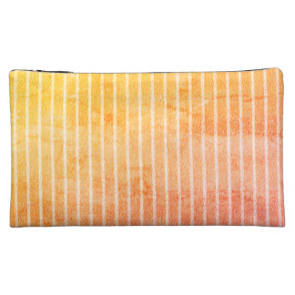 """Peachy-Sunset"" -Stripes-Med- Makeup Bag"