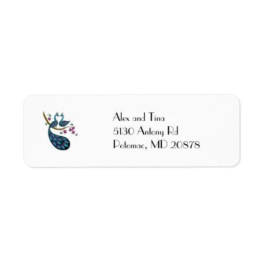Peacock -1 Return Address Labels