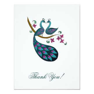 Peacock -1 Thank You note card