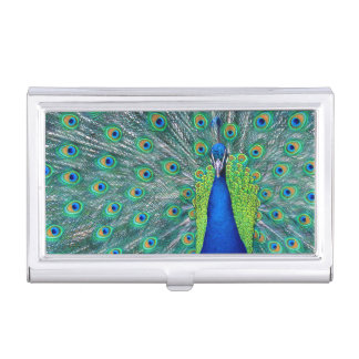 Peacock #3 business card holder