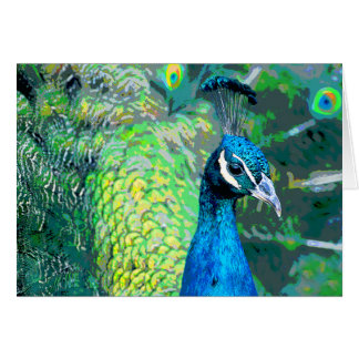Peacock #3-Greeting card