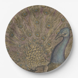 Peacock 9 Inch Paper Plate