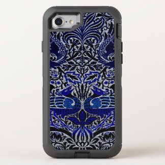 Peacock And Dragon Morris Victorian Design OtterBox Defender iPhone 7 Case
