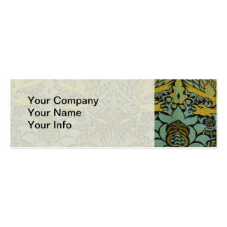 Peacock and Dragon William Morris Tapestry Design Double-Sided Mini Business Cards (Pack Of 20)