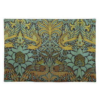 Peacock and Dragon William Morris Tapestry Design Placemat