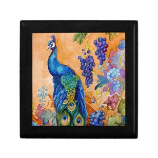 Peacock and Grapes Gift Box
