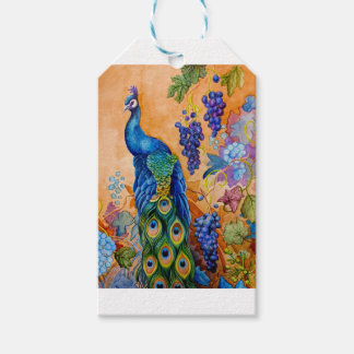 Peacock and Grapes Gift Tags