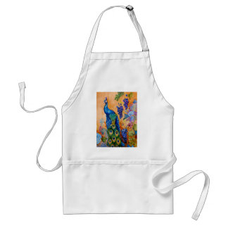 Peacock and Grapes Standard Apron