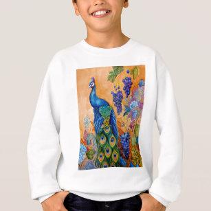 Peacock and Grapes Sweatshirt