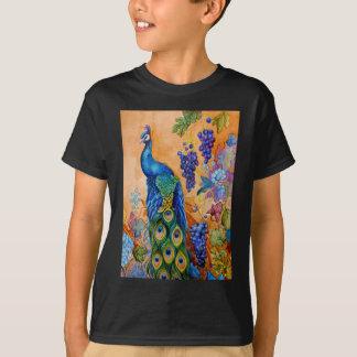 Peacock and Grapes T-Shirt