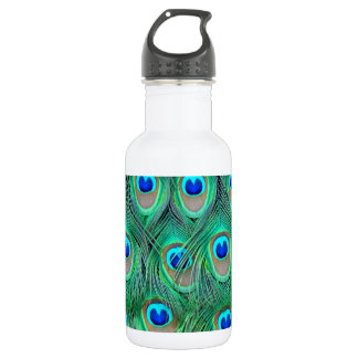 peacock animal print - feathers 532 ml water bottle
