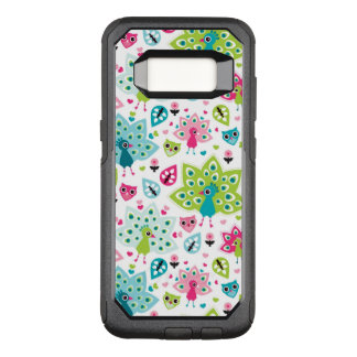 peacock bird and owl OtterBox commuter samsung galaxy s8 case