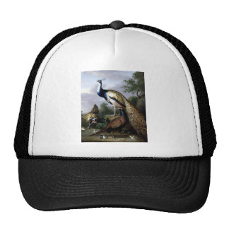 Peacock Bird Family Painting Hat