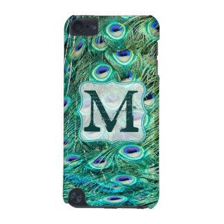 Peacock Bird Feather Monogram Initial IPOD Touch iPod Touch (5th Generation) Cover