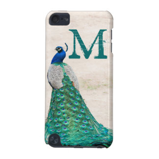 Peacock Bird Feather Monogram Initial IPOD Touch iPod Touch 5G Case