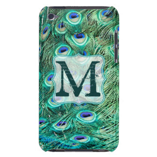 Peacock Bird Feather Monogram Initial IPOD Touch iPod Touch Case