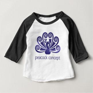 Peacock Bird Peafowl Icon Concept Baby T-Shirt