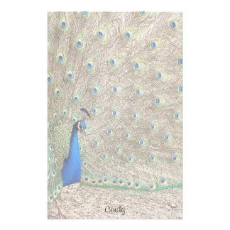 Peacock Bird Wildlife Animals Feathers Stationery Design
