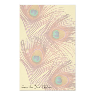 Peacock Bird Wildlife Animals Feathers Stationery Paper