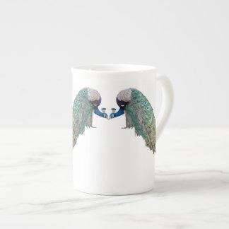 Peacock Birds Bone China Cup