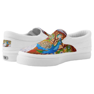 PEACOCK BIRDS shoes Printed Shoes