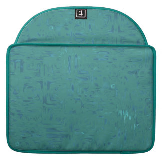 Peacock Blue Abstract Rickshaw MacBook Pro Sleeve
