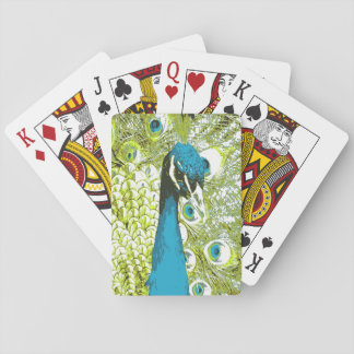 Peacock Blue and Green Playing Cards