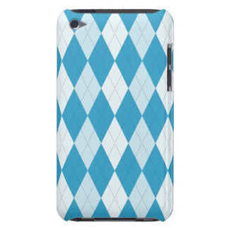 Peacock Blue Argyle Small Diamond Shape Barely There iPod Cover