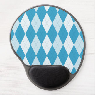Peacock Blue Argyle Small Diamond Shape Gel Mouse Pad