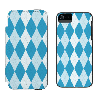 Peacock Blue Argyle Small Diamond Shape Incipio Watson™ iPhone 5 Wallet Case