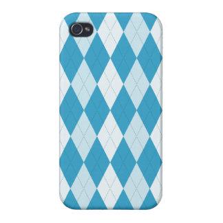 Peacock Blue Argyle Small Diamond Shape iPhone 4/4S Cover