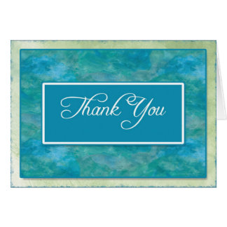 Peacock Blue Business Thank You Notes