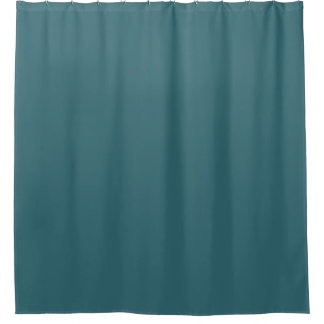 Peacock Blue (Dark Teal or Deep Aqua) Solid Colour Shower Curtain