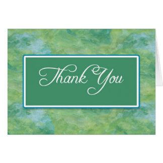 Peacock Blue & Green Business Thank You Notes