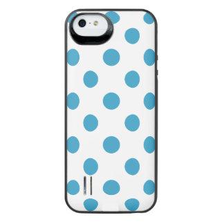 Peacock Blue Polka Dots Circles iPhone SE/5/5s Battery Case