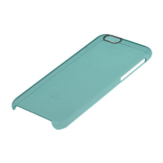 Peacock Blue Solid Colour Clear iPhone 6/6S Case