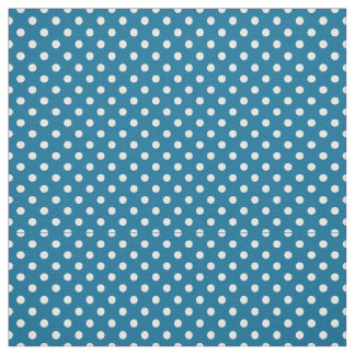 Peacock Blue, White Polka Dots Size 1 Small Fabric
