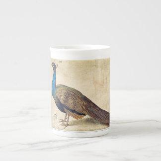 Peacock Bone China Mug