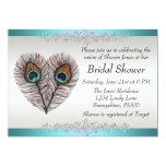 Peacock Bridal Shower Announcement 13 Cm X 18 Cm Invitation Card