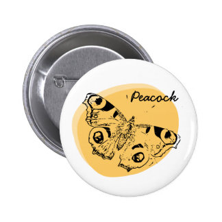 Peacock butterfly fried egg badge