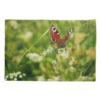 Peacock Butterfly In Green Summer Meadow Pillowcase