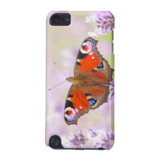 peacock butterfly over lavender iPod touch (5th generation) covers