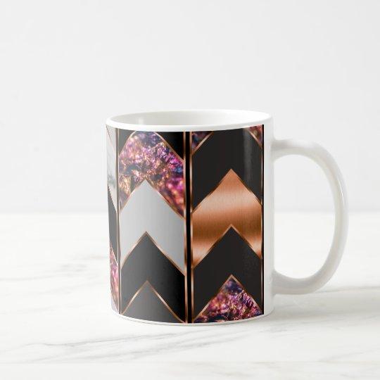 Peacock Chevron Coffee Mug