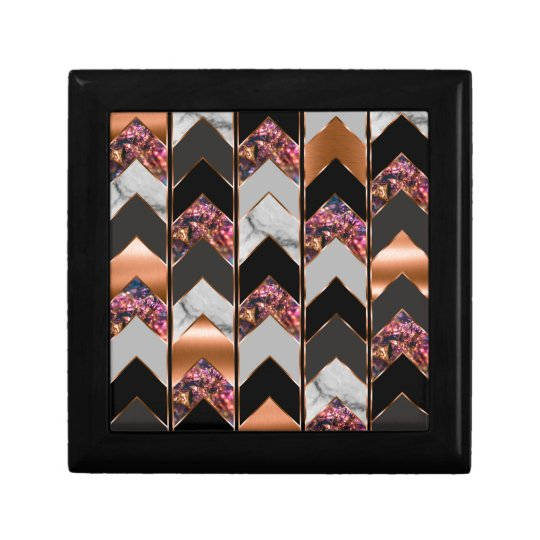 Peacock Chevron Gift Box