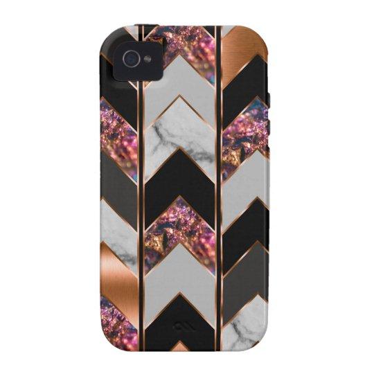 Peacock Chevron iPhone 4/4S Cover