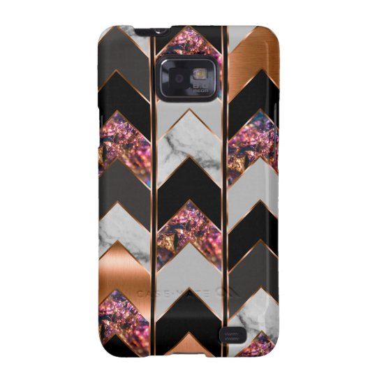 Peacock Chevron Samsung Galaxy S2 Case