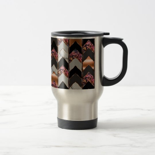 Peacock Chevron Travel Mug