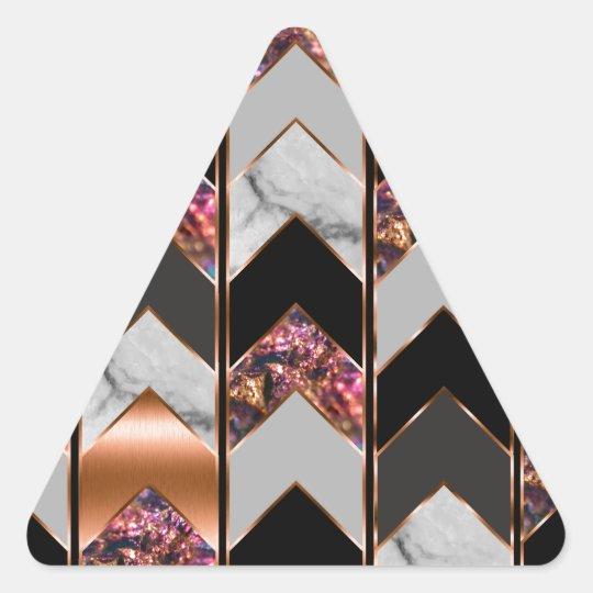 Peacock Chevron Triangle Sticker